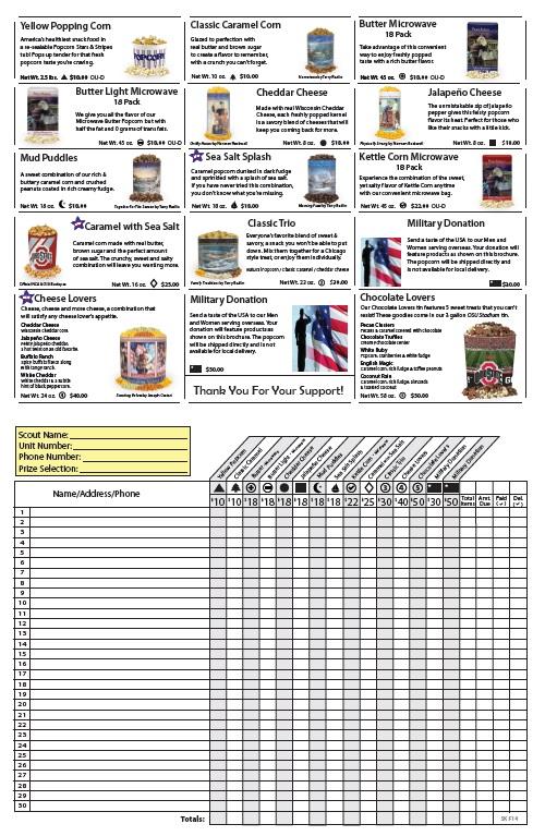 Sales Flyer inside – Simon Kenton Council Boy Scouts of America